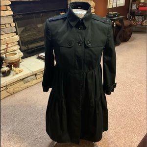 Burberry trench coat black coat